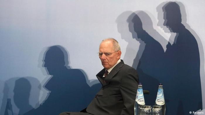 German Finance Minister Wolfgang Schaeuble arrives at a Greek-German industry and trade chamber meeting in Athens July 18, 2013. Greek police have banned protests and traffic in downtown Athens on Thursday during a visit by Schaeuble, whom many accuse of forcing painful cuts on Greece in return for the multi-billion euro bailouts keeping it afloat. REUTERS/ICON/Costas Baltas
