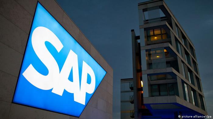 Logo Software-Unternehmen SAP schief