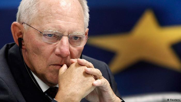German Finance Minister Wolfgang Schäuuble REUTERS/John Kolesidis