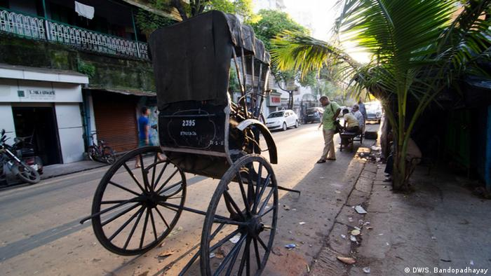 A rickshaw in Kolkata (Photo: DW/Sirsho)