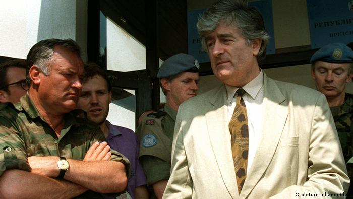 Karadzic and Mladic in 1993 (picture-alliance/dpa)