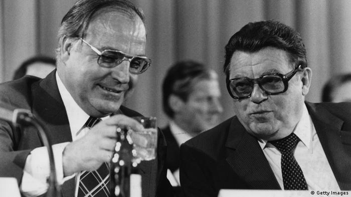 CSU - Franz Josef Strauß and Helmut Kohl (Getty Images)