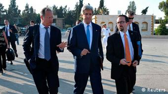 US-Außenminsiter Kerry in Ramallah, 19.7. 2013 (Foto: Reuters)