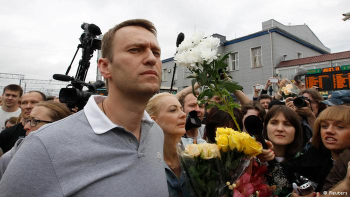 Russian protest leader Alexei Navalny (photo: Sergei Karpukhin)