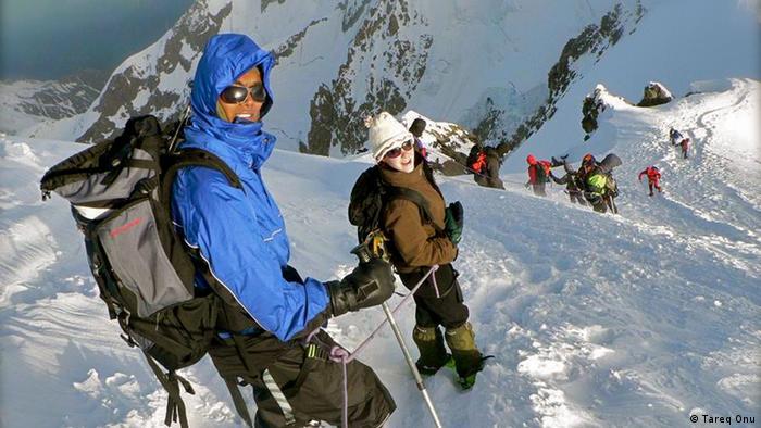 Tareq Onu auf dem Mont Blanc