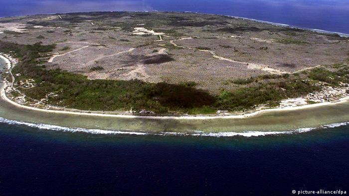 Nauru from the sky
