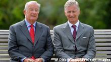 Belgien Königliche Familie König Albert und Prinz Philippe