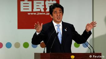 Japan's Prime Minister and the leader of the ruling Liberal Democratic Party (LDP), Shinzo Abe speaks during a news conference following a victory in the upper house elections by his ruling coalition, at the LDP headquarters in Tokyo July 22, 2013. (Photo: Reuters)