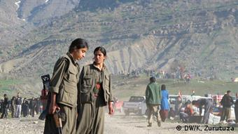 The PKK's mountain stronghold in northern Iraq. Copyright: Karlos Zurutuza, DW Mitarbeiter, Nord-Irak, Juli 2013