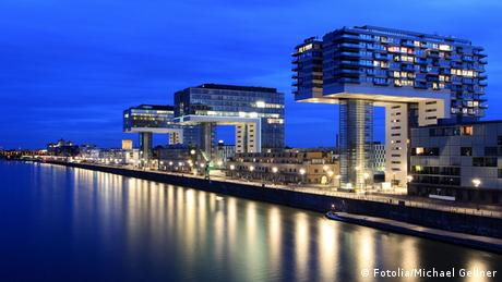 Köln Kranhäuser Rhein