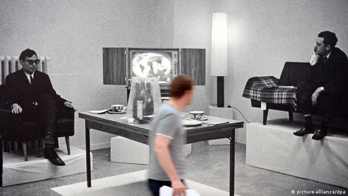 Конрад Люге и Герхард Рихтер на выставке капреализма