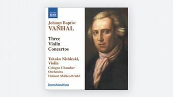 Portrait des jungen Johann Baptist Vanhal auf einem CD-Cover