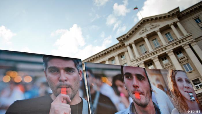 Antiregierungsproteste in Sofia, Bulgarien, 23.07.2013. Foto: BGNES (stellt die Fotos ohne Einschränkung zur Verfügung)
