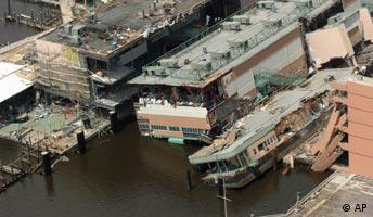Verwüstung durch Hurrikan Katrina am Golf von Mexiko