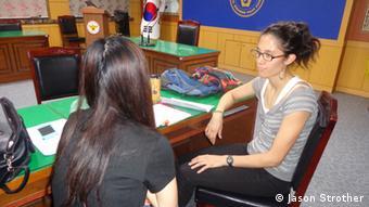 An English conversation class in Seoul