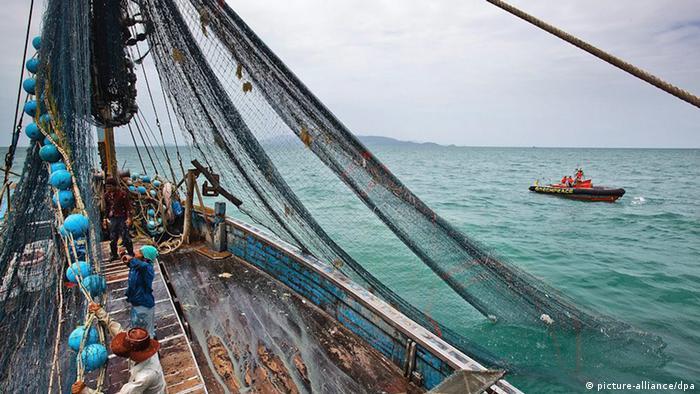 Un barco pesquero.