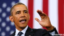 US Präsident Barack Obama Rede in Galesburg Illinois