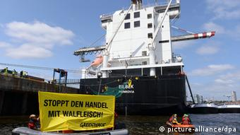 Greenpeace Protest Walfleisch-Transport