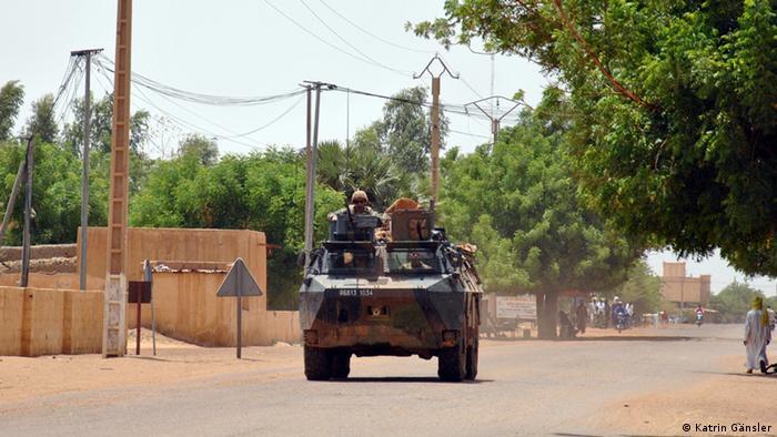 Militärfahrzeug der MINUSMA in Gao/Mali. (Foto: Katrin Gänsler)