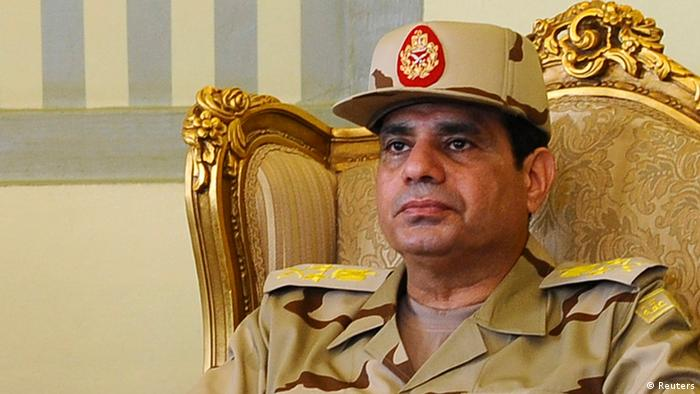 Al-Sisi pictured while still a general