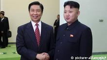 Norkorea Li Yuanchao mit Kim Jong Un in Pjögjang