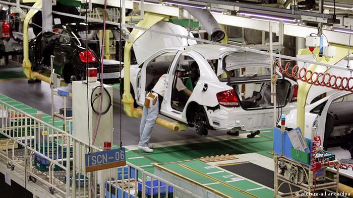 Toyota-Werk in Tokio Produktion Prius