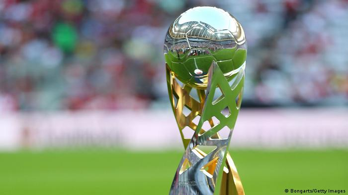 MUNICH, GERMANY - AUGUST 12: The supercup trophy is pictured before the Bundesliga Supercup 2012 match between Bayern Muenchen and Borussia Dortmund at Allianz Arena on August 12, 2012 in Munich, Germany. (Photo by Martin Rose/Bongarts/Getty Images)