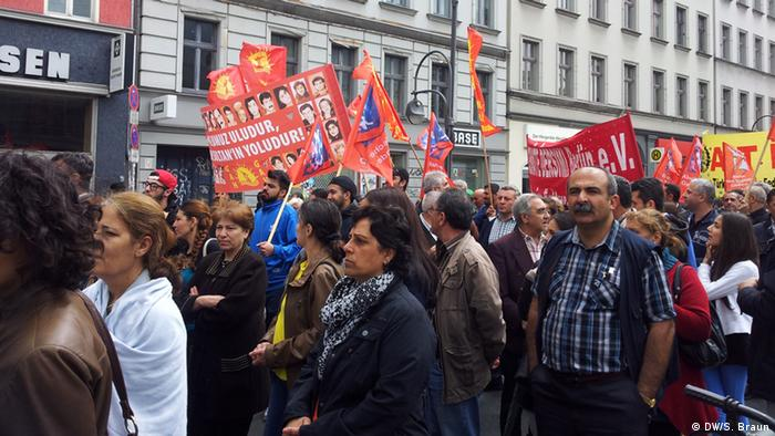 A memorial march for the victims of the Siva massacre (July 2, 1993), held in Berlin in July 2013