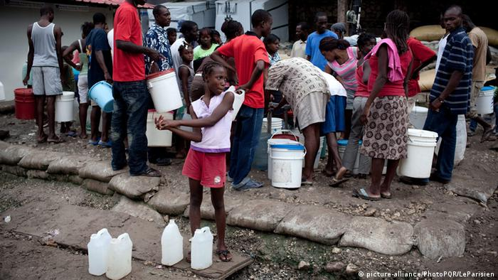 The UN have been taken to court by victims of 2010's cholera outbreak. Photo: Le Parisien