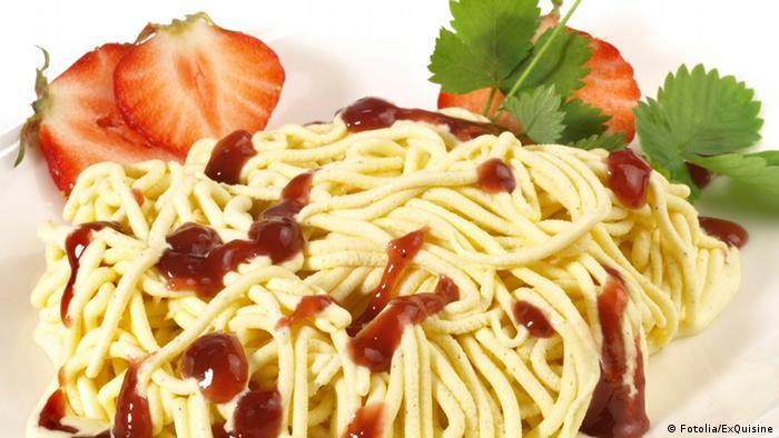 Spaghettieis (Copyright: ExQuisine)