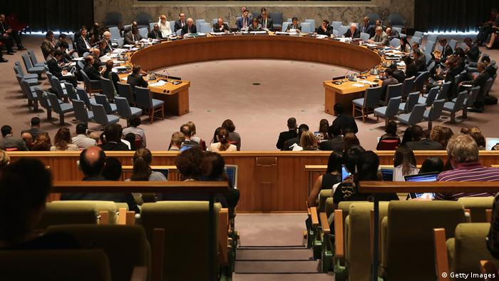 NEW YORK, NY - JULY 17: The United Nations Security Council discusses violence against journalists on July 17, 2013 in New York City. The Security Council heard four journalists speak on the unprecedented level of violence leveled against reporters and photojournalists covering conflict, most recently while covering Syria's civil war. (Photo by John Moore/Getty Images)