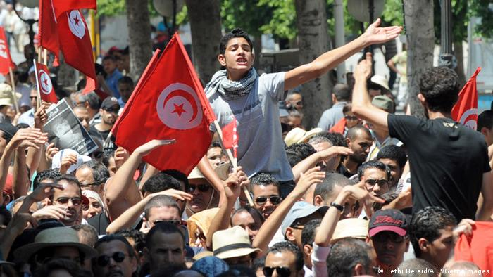Demonstration der liberalen Opposition in Tunis, 26.07.2013 (Foto: AFP/Getty Images)