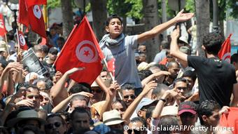 Massenprotest am Freitag in Tunis (Foto: AFP/Getty Images)