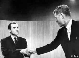 Sie lieferten sich das erste Duell: Richard Nixon und John F. Kennedy