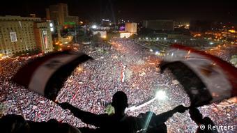 Massendemonstration am 26.07.2013 von Anhängern des Umsturzes gegen Mursi. (Foto: Reuters)