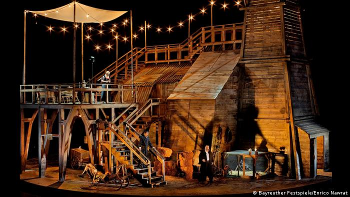 Hunding's hut as an oil platform in The Vallkyrie Photo: Bayreuth Festival / Enrico Nawrath.