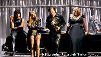 Götterdämmerung Szene 3. Aufzug Foto: Bayreuther Festspiele/Enrico Nawrath.