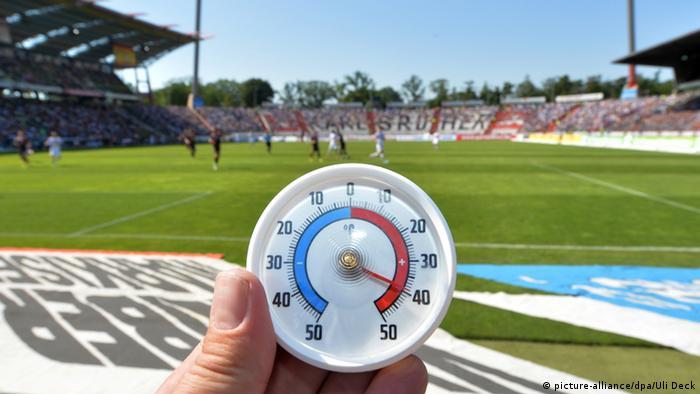 Temperatura za vrijeme utakmice Karlsruher SC protiv FC St. Paolija