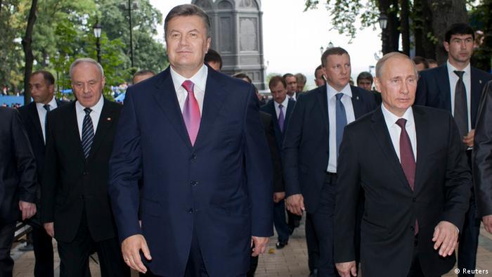 Как хохлы Путина встречали