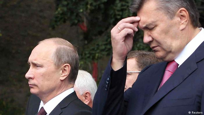 Виктор Янукович и Владимир Путин (фото за архива - 2013 год)