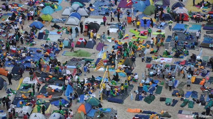 Rio de Janeiro, Brasilien WJT Weltjugendtag Zeltplatz
