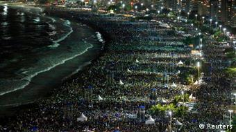 Some two million Catholics packed the beach for World Youth Day earlier this year