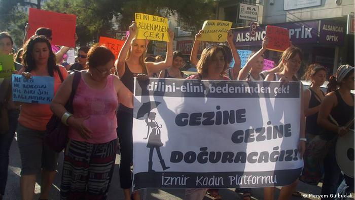 Pregnancy protest in Izmir