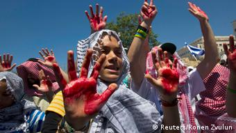 Proteste gegen die Freilassung palästinensischer Gefangener in Israel am 28. Juli 2013 (Foto: REUTERS)