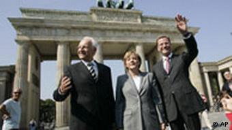 Wechselgipfel in Berlin Die CDU Vorsitzende und Kanzlerkandidatin Angela Merkel