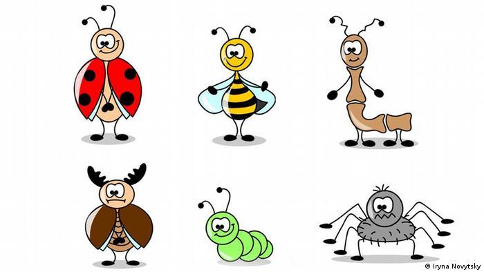 Insekten Cartoons (Foto: 123rf)