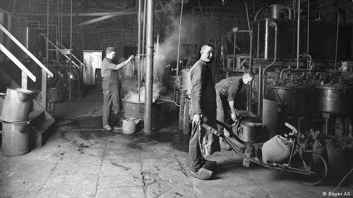 Bayer Phenacetin-Betrieb Elberfeld im Jahr 1888.