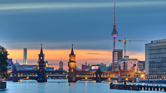 Skyline of Berlin at night