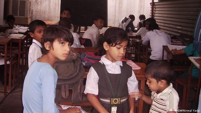 Schulkinder in Indien (DW/Nirmal Yada)