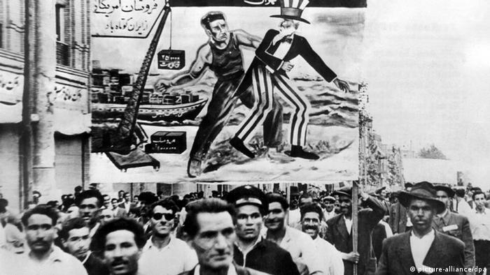 Iran Demos gegen USA 1951 Teheran